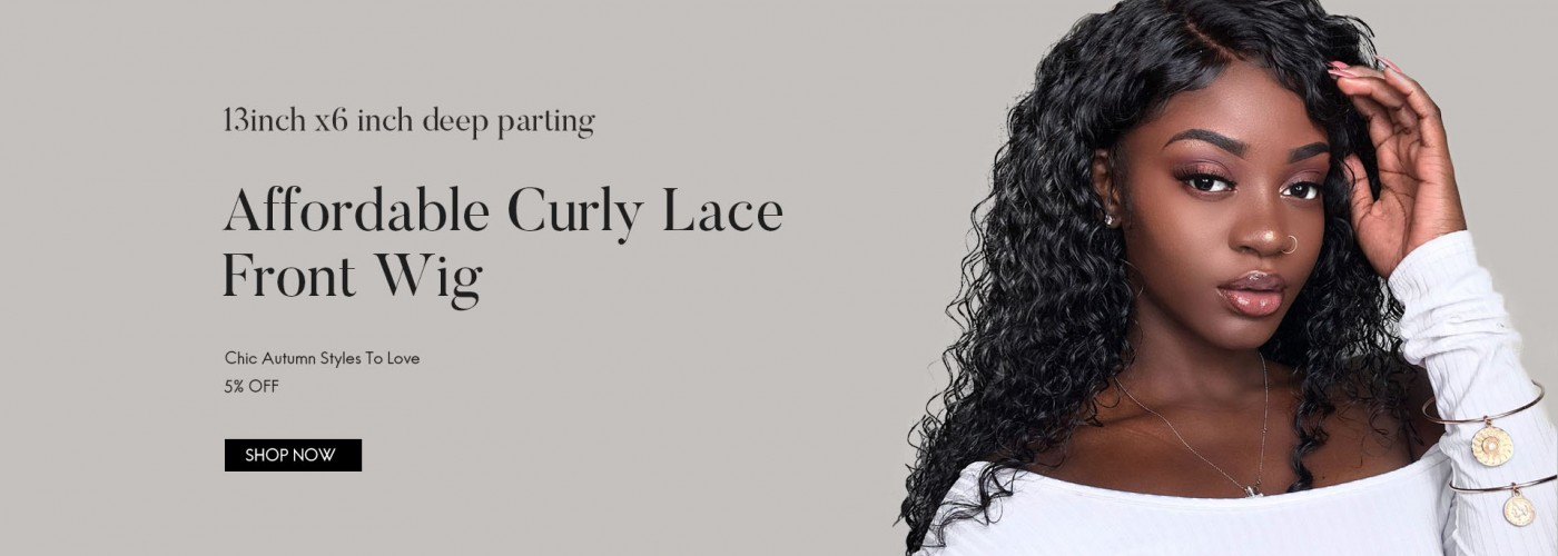 Affordable curly lace frontal wig