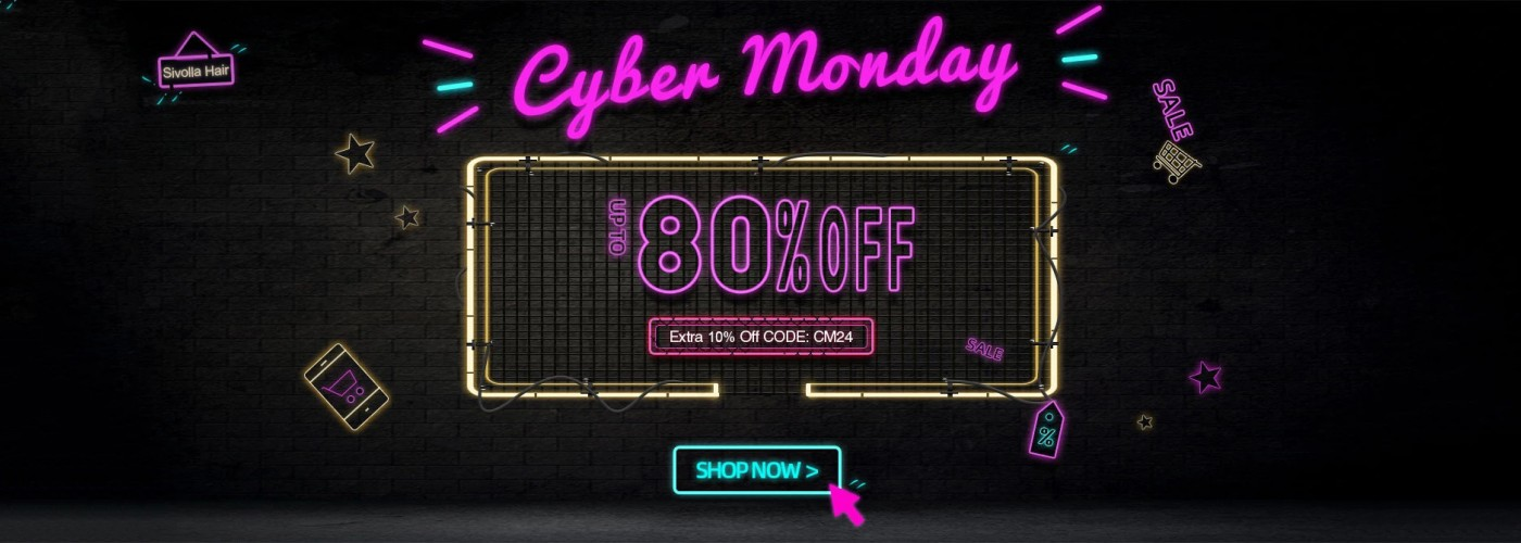 cyber monday hot sales human hair