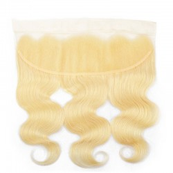 613 Blonde Body Wave 4 Bundles Hair Weft With Lace Frontal Closure 13*4 9A