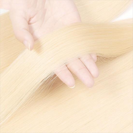 1 PC 613 blonde color human virgin human hair