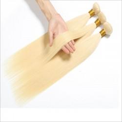 3pcs Straight 613 blonde color human hair bundle deals