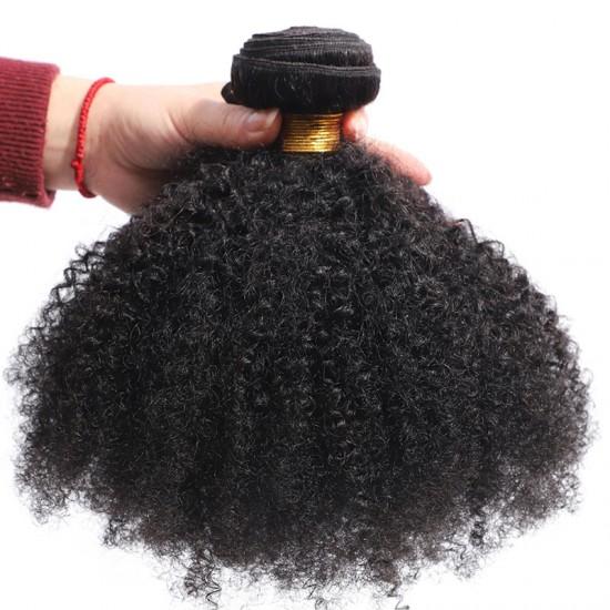 Afro Kinky Curly Human Hair Weave Virgin Human Hair Bundles
