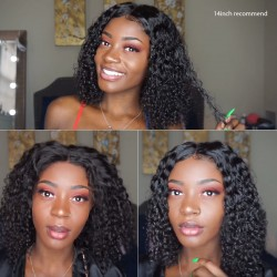 Short Curly Bob Lace Frontal Wig | Pre Pucked Lace Frontal Wigs Kinky Curly Short Bob Wigs with Baby Hair | Sivolla Hair
