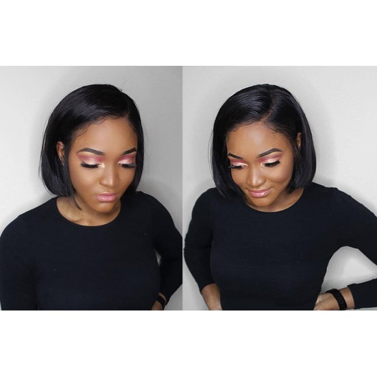 Natural Hairline Lace Front Short Bob Wig