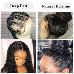 360 Lace Frontal Wig with Baby Hair | Pre Pucked Deep Wave Curly Lace Wig | 13*4 |13*6 Sivolla Hair Wig