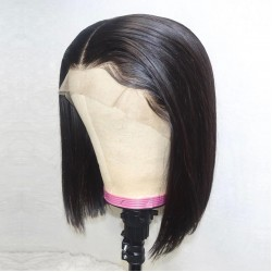 Raw Human Hair Lace Front Human Hair Wigs | Short Straight Bob Wigs Pre Pluck with Baby Hair | Sivolla Hair Wig