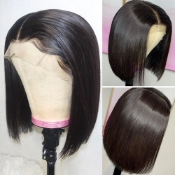 Short Bob Remy Wig Straight Lace Front Human Hair Wigs Natural Color Lace Frontal Wig For Black Women   Sivolla Hair