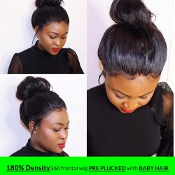 Straight 100% Human Hair Short Bob Wig Pre-Plucked Natural Hairline Virgin Hair Wig | Sivolla Hair