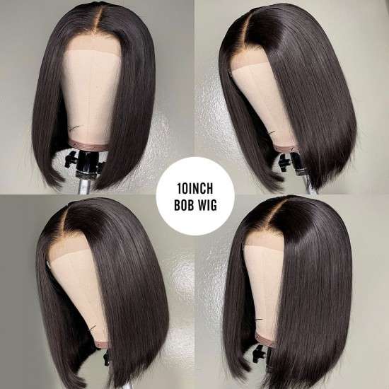 Chexeux Tissage Unprocessed Real Human Hair Bob Wig