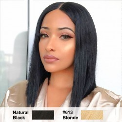 5 Color Choice Short Bob Lace Frontal Wig | Blonde Black #27 #99J Straight Bob Wig | Sivolla Hair Wig
