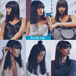Icon Love's Pre-Plucked Short Cut Bob Wig with Hair Bangs Best Virgin Hair Lace Frontal Wig    Sivolla Hair Wig
