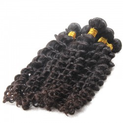 3 bundle 100% Brazilian machine double hair NATURAL Human Hair Deep Wave Curls Organic Healthy Strands one Donor Raw Hairs