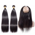 3 Bundles with 360 Frontal