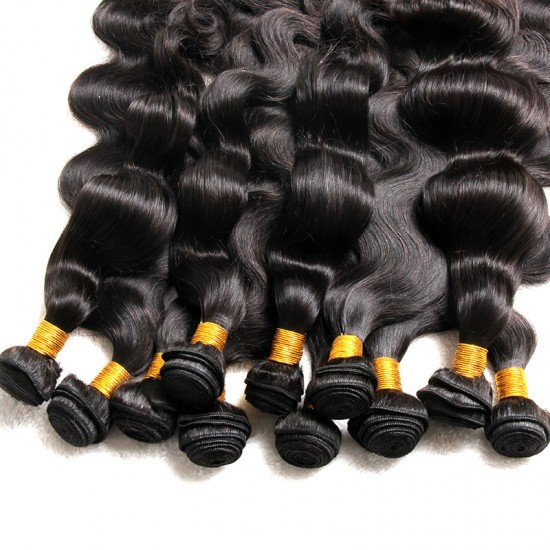2/3Pcs/Lot Bundle Deals with Closure 4*4 100 Unprocessed virgin full cuticles aligned Brazilian hair Body Wave Natural Hair Best Hair