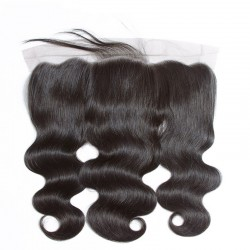 4Pcs Bundle Deals with Frontal 13x4 Lace Closure Brazilian Body Wave Natural Original Raw Mink Human Hair Middle Part&Three Part