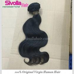 "1 Bundle Raw SivollaHair Burmese Unprocessed Virgin Human Hair 8""-30"" Body Wave wefts Cuticles Aligned Natural Color Premium Quality Aliqueen Hair"