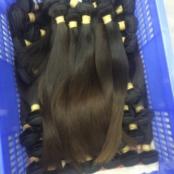3Pcs/Lot 9A Hair Braiding Bulk Hair Burmese Straight Human Hair Weft Original Natural end Brownish Color Hair
