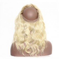 613 Blonde Color 360 Band Lace Frontal Closure Body Wave Brazilian Peruvian Indian Malaysian Vietnamese Virgin Hair Lace Frontal 22.5*4*2