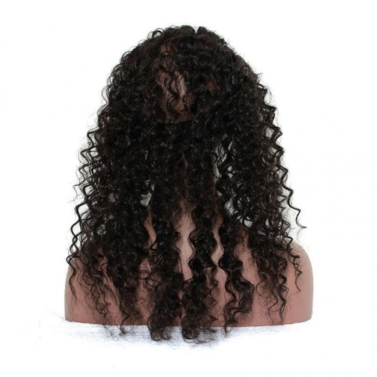 360 Band Lace Frontal Closure Deep Wave Natural Virgin Hair French Lace Hand Tied 360° Lace Frontal