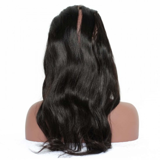 360 Band Lace Frontal Silky Straight Closure with 360