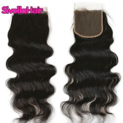 Sivolla Lace Closure 5X5 Body Wave/Straight/Deep Wave Transparent Lace Closure