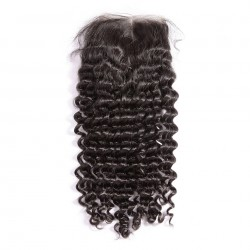 Free Shipping Sivolla 4*4 Middle Part Lace Closure Curly Mink Human Hair Raw Natural Hair Closure