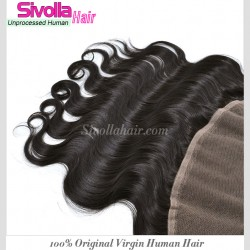 """Buy Sivolla Lace Frontal Free Shipping DHL Natural Original Human Hair Body WAVE Lace Frontal Closure 13*4 8""""-22"""" with Super Cheap price"""