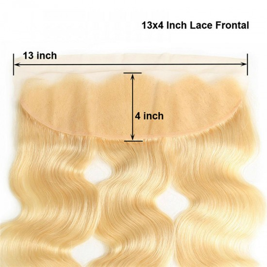 10A Body Wave Lace Frontal Closure 13x4 Ear to Ear Blonde Color #613 Lace Frontal Closure Premium