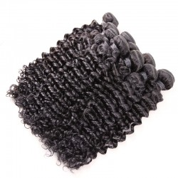 10 Pcs a Lot Brazilian Virgin Human Hair Deep Wave Natural Hair Bundle Deals Wholesale Human Hair Products 8A