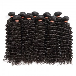 10 Pcs a Lot Brazilian Virgin Human Hair Deep Wave Natural Hair Bundle Deals Wholesale Human Hair Products 8A