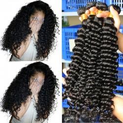 3 Bundle Deals Deep Wave Natural Human Hair Weft Best Human Hair Weave Bundles Human Hair Products