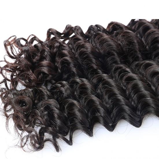 Deep Wave Human Hair Weave Virgin Human Hair