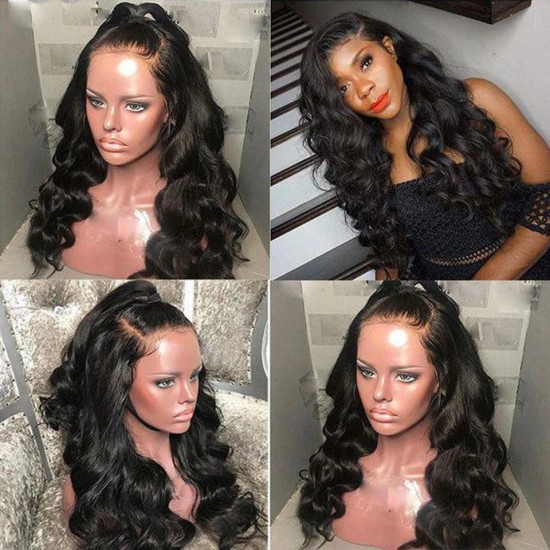 Breathable Body Wave Human Hair Full Lace Wig with Natural Hairline Baby Hair
