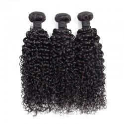 3 Bundles Deal Natural Black Color Jerry Curly Virgin Human Hair Weft Brazilian Indian Malaysian Peruvian Cambodian