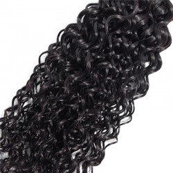 1 Bundle Jerry Curly Human Hair Weave Non Remy Natural Hair Weft