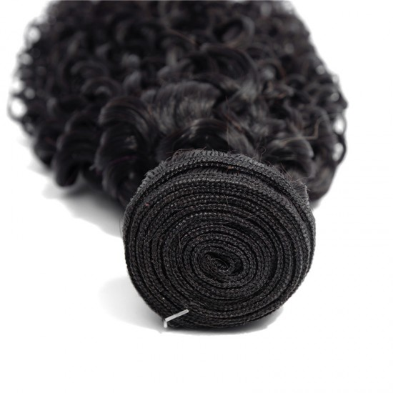 Jerry Curly Human Hair Weave Non Remy Natural Hair Weft
