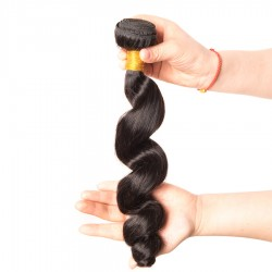 1PC a lot Loose Wave Human Hair Weave Virgin Remy Natural Hair Bundle Affordable Price