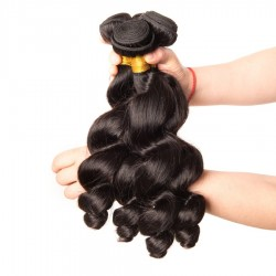 4 bundle Deals 400g/lot Loose Wave Cheveux Tissage Indian Burmese Cambodian Natural Human Hair wefts 8A