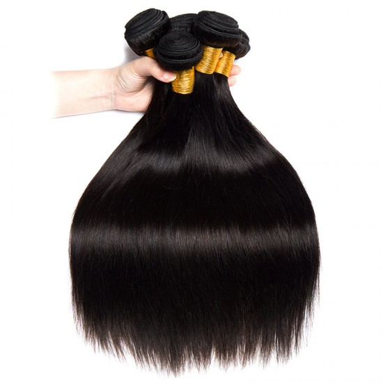 3PCS Virgin RAW Peruvian Silky Straight Human Hair Weft Original Hair Collection Bundle Deals Lustrous Strands Tangle free