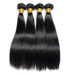 10Pcs Wholesale Deal Indian Remy Virgin Human Hair Straight Natural Raw Hair Wefts 8A