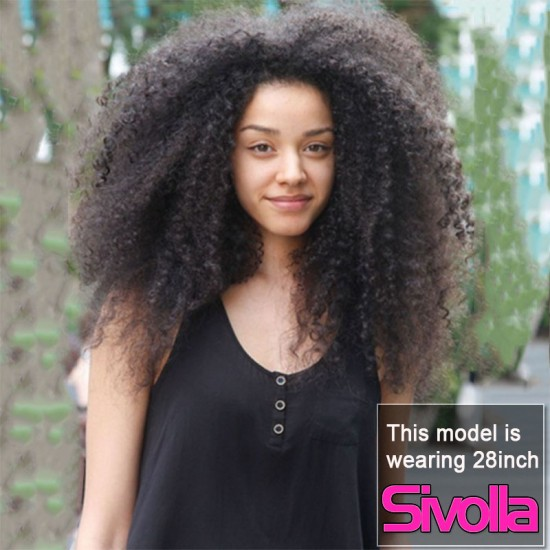 LUXURY RAW HUMAN HAIR WIG AFRO KINKY CURLY TEXTURE LACE FRONTAL WIGS