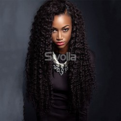 MINK HUMAN HAIR WIGS NATURAL BLACK DYEABLE 150% DENSITY DEEP CURLY LACE FRONTAL WIGS | SIVOLLA HAIR