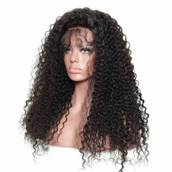 Sivolla 100% Authentic Human Hair Natural Hair Line Lace Frontal Wigs Deep Curly 150% Density Brazilian Human Hair Wigs