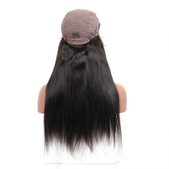 13X6 Lace Front Human Hair Wigs Pre Plucked 150 Density Silky Straight Brazilian/Indian/Vietnamese Human Hair Lace Frontal Black Wig For Women