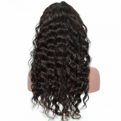 Brazilian Lace Fronal Wigs 150% Density Loose Wave Lace Front Ponytail Wigs Pre-Plucked Natural Hair Line