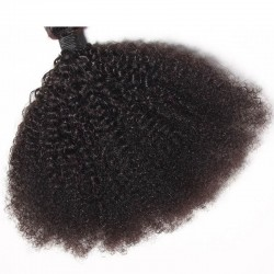 1 Piece 100% Human Hair Afro Kinky Curly Natural Color 4B 4C 9A Virgin Human Hair Weave Products