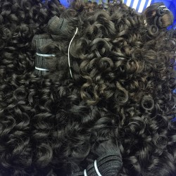 3 bundle deals burmese natural human hair,vietnamese original hair bundles romantic/italian curly hair weave