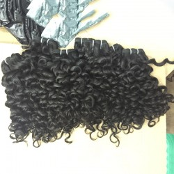 1PC SivollaHair Grade 10A Raw human hairs Cambodian Romantic Curly Virgin Weaves Italian Curls