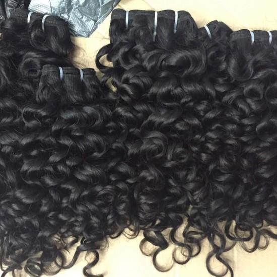 1PC SivollaHair Grade 10A Raw human hairs Cambodian Romantic Curly Virgin Weaves Italian Curls