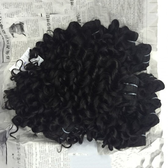Cambodian Three (3) Bundle Romantic Curly Thick&Full Human Hair Deals Unprocessed No Shedding and Tangle 10A Raw Hair Italian Curly
